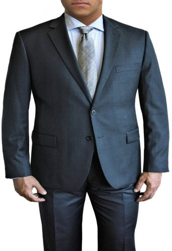 New Blue Mini Grid All Wool Designer Suit by Daniel Hechter to Size 58R and 58L