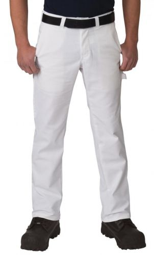 Premium White Painter Pants to Size 60 Made in Canada