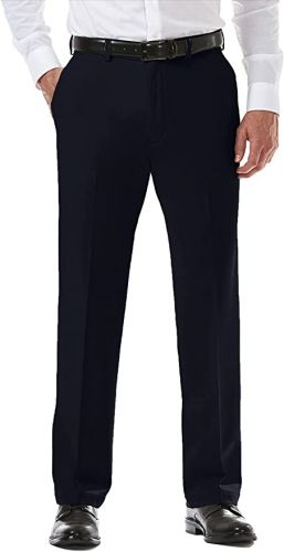 Big and Tall Haggar Microfiber Flat Front Pants to Size 60