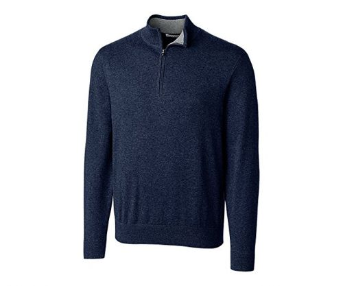 Englishman's Cotton V-Neck Half-Zip by Cutter and Buck