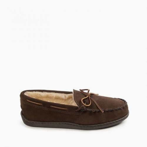 Pile Lined Hardsole Moccasin to Size 16