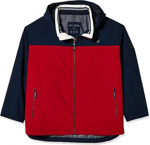 Nautica Colorblock Lightweight Jacket in 3 Colors to Size 6XT and 8XB