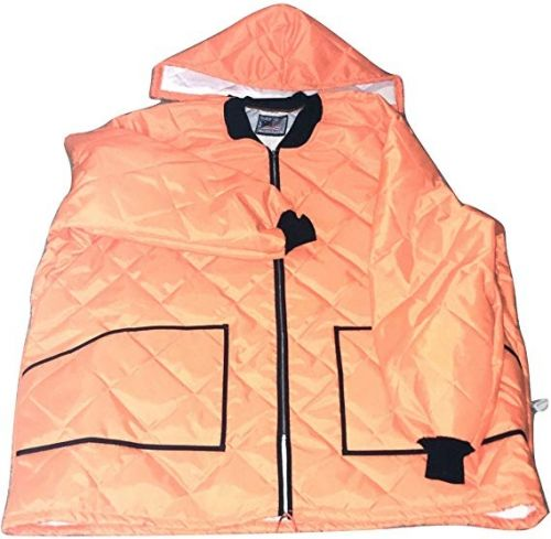 Big and Tall Thermal Lined Blaze Orange Hunting and Safety Parka to Size 6X
