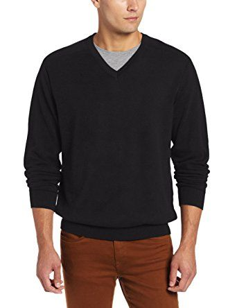 Highlands Cotton V-Neck by Cutter and Buck