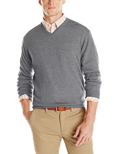 Merino Blend Montgomery V-Neck by Cutter and Buck