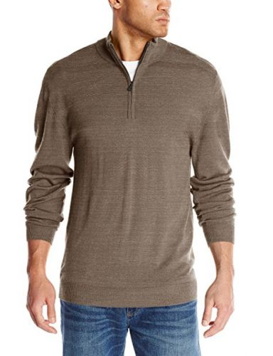 Merino Blend Montgomery Half Zip by Cutter and Buck