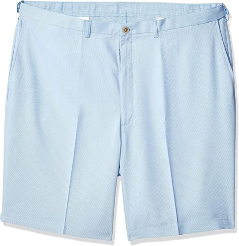 Haggar Flat Front Comfort Extender Oxford Shorts to Size 60
