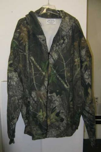 Camo Hooded Zipper Sweatshirt