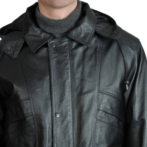 Hooded Leather Fashion Surcoat