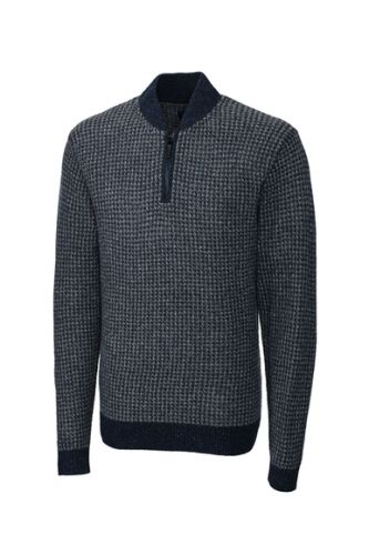 Belfast Half Zip Merino Blend Sweater by Cutter and Buck
