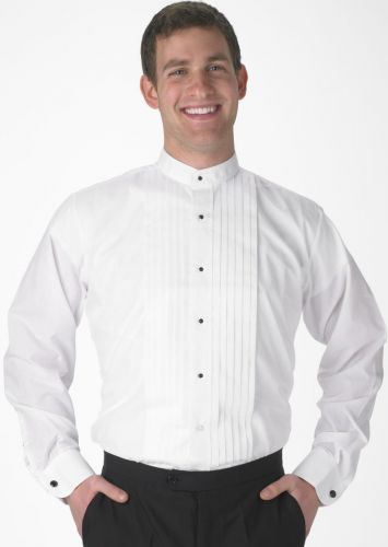 Banded Collar Tuxedo Formal Shirt to Size 6X in Short and Long Sleeve