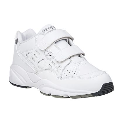 Comfort Walking Shoe with Velcro to 17 5E in White and Black