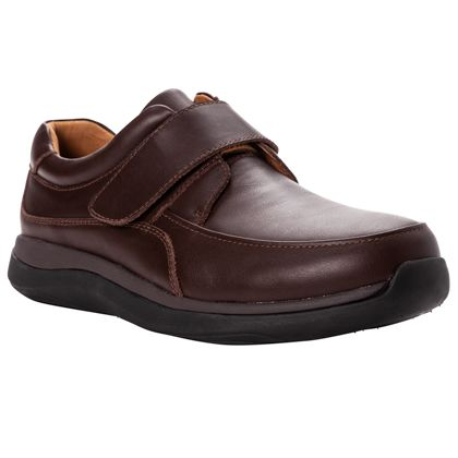 Hook and Loop Strap Moc Toe Casual Shoe to Size 18 5E