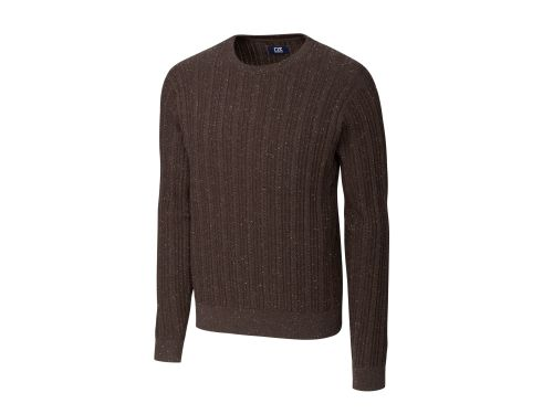 Prestige Cable Knit Crew Neck Sweater by Cutter and Buck