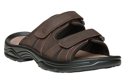 Leather Upper Double Strap Thong Sandal to Size 15 5E