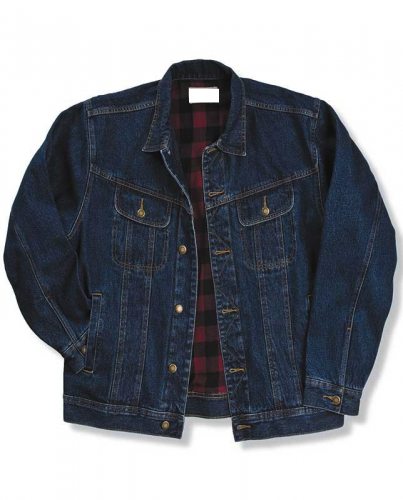 Flannel Lined Denim Jacket to Size 6X and 2XT