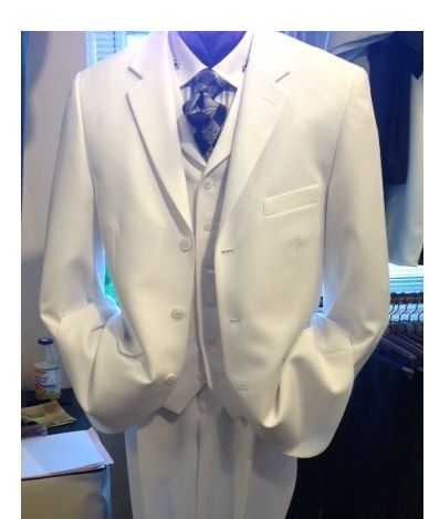 White Vested Suit