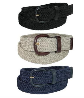 Elastic Woven Stretch Belt in 4 Colors