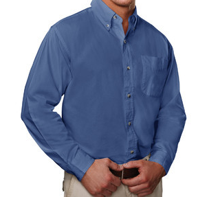 Premium All Cotton Twill Shirt in Short or Long Sleeve