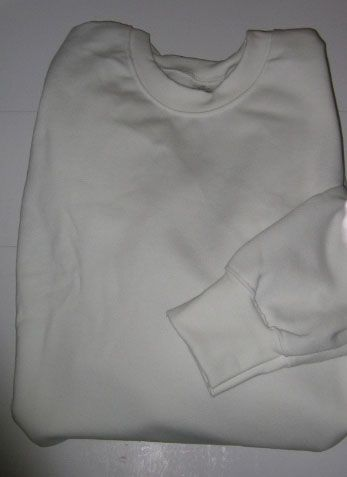 Long Sleeve White Crew Neck Sweatshirt