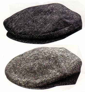 Wool Herringbone Cap