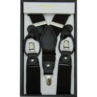 Big and Tall Combo Button and Clip Suspenders in Extra Long Sixes