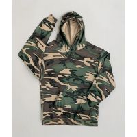 Hooded Pullover Camo Sweat Top